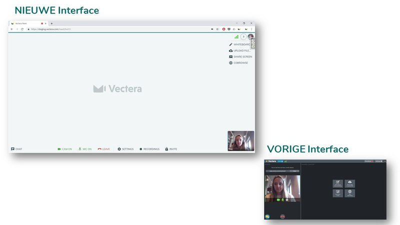 Nieuwe interface vs. oude interface