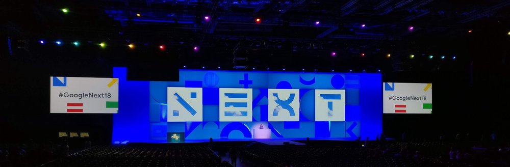 The keynote room — Ready for 8000 GCP developers, sales reps, etc.