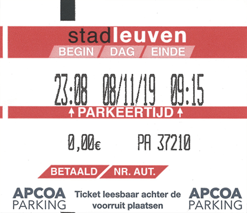 A real parking ticket