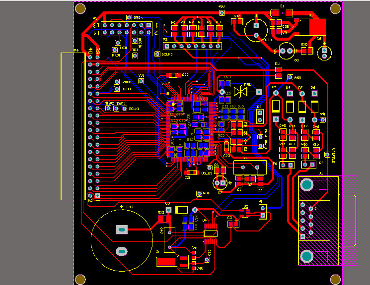 Custom printed circuit board (PCB) layout
