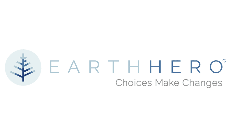 "The EarthHero logo and their tagline: ""Choices Make Changes"""