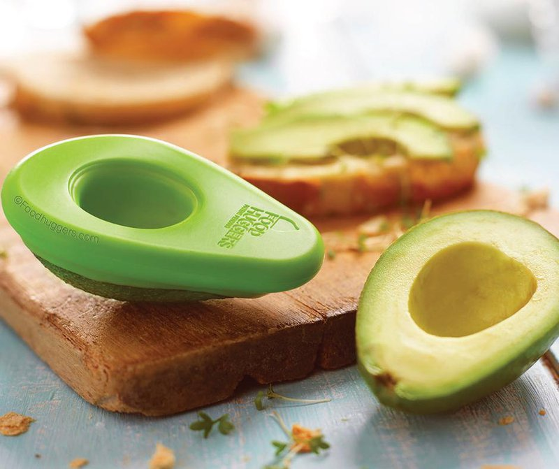 Food Huggers keeping an avocado fresh before it's tossed into a piece of eco-friendly cookware