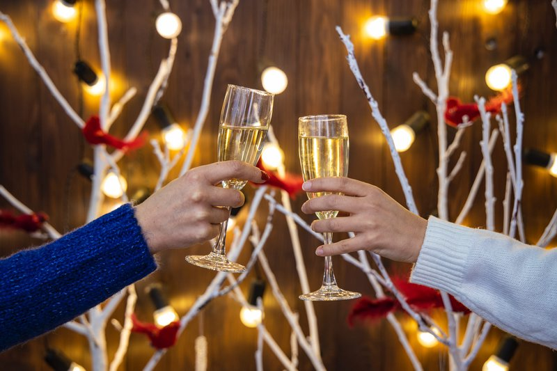 Sustainable living during the holidays with a toast