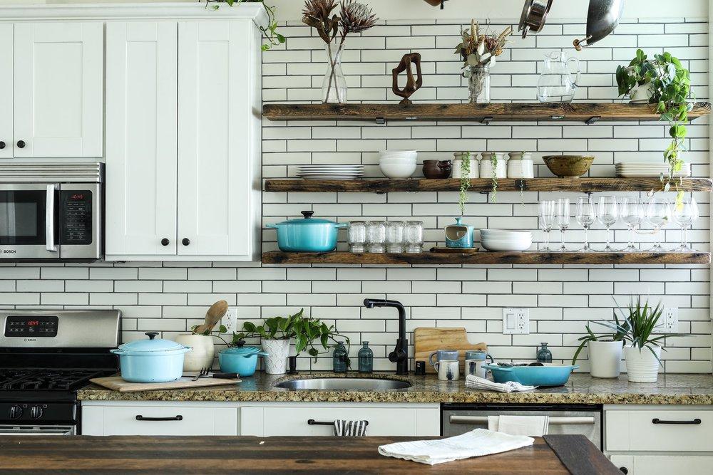 A kitchen space that embodies countertop organization.
