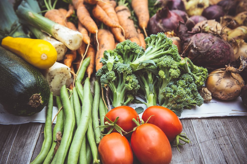 Fruits and veggies for compost