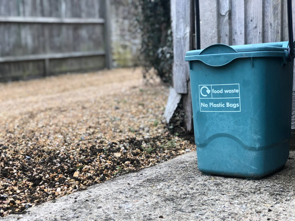 A food-waste specific compost container