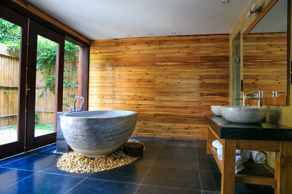 One of many tranquil and relaxing modern bathroom designs