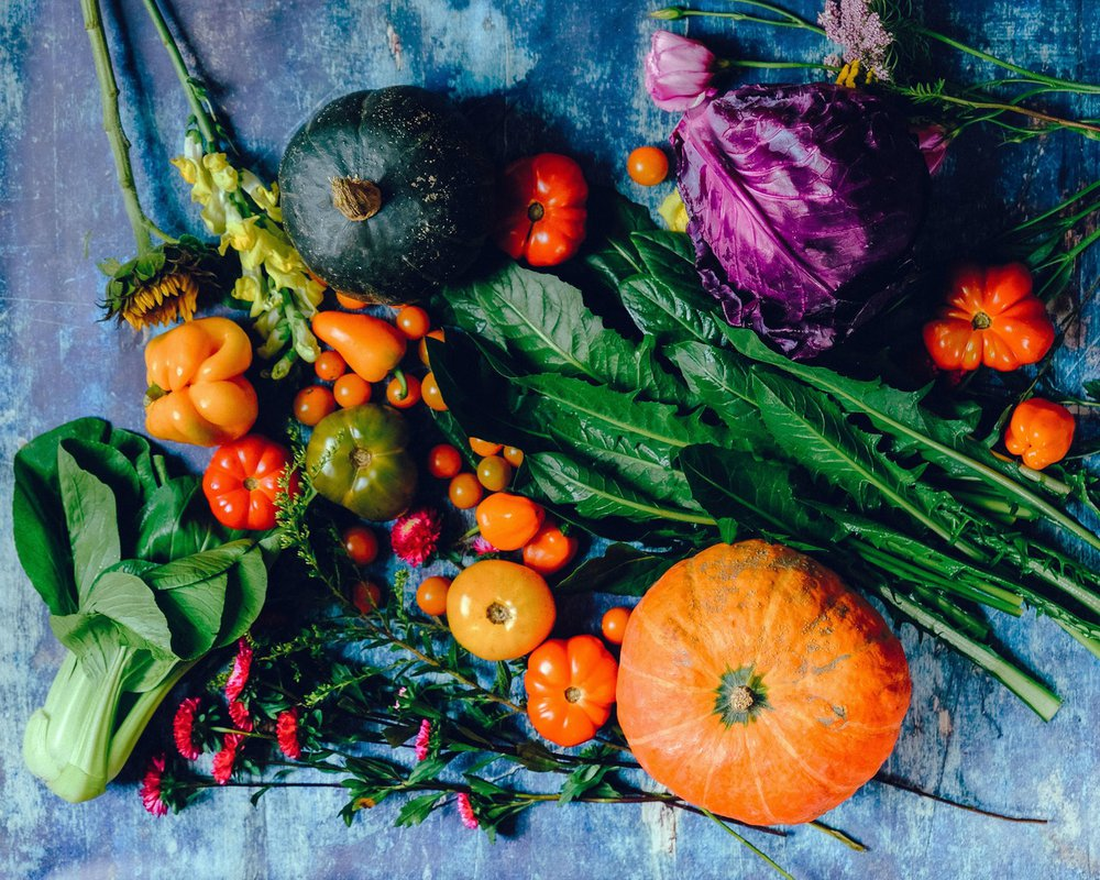 A variety of tasty fall vegetables