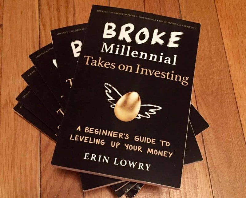 Broke Millennial Investing Book by Erin Lowery