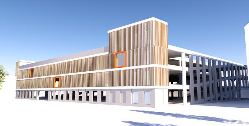 Bouwplan nieuwe parkeertoren voor campus Torhout