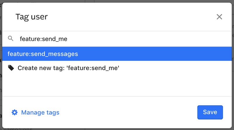 Enable feature flags for users with Intercom tags