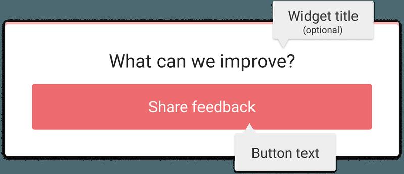 Customizing the feedback button