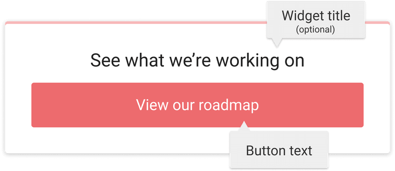 Customizing the roadmap button