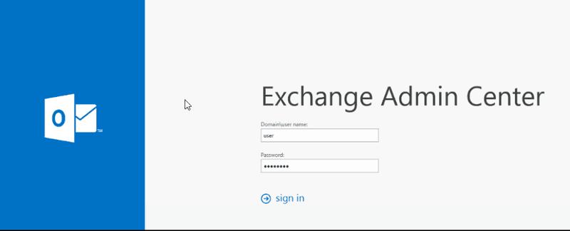 Exchange server Admin Center