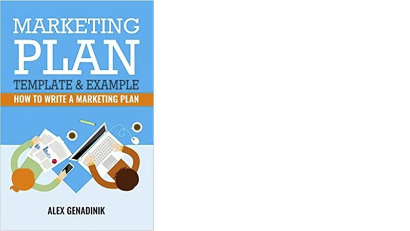 marketing plan template & example book cover