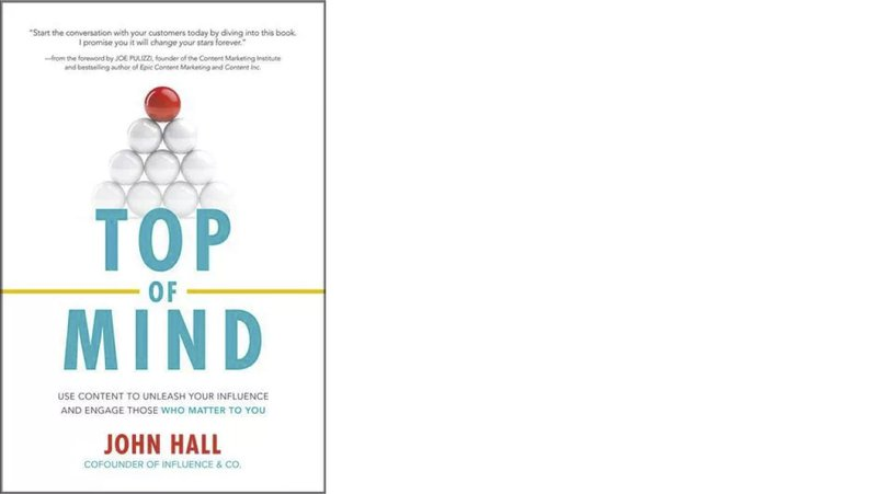 top of mind book cover by john hall top strategy books