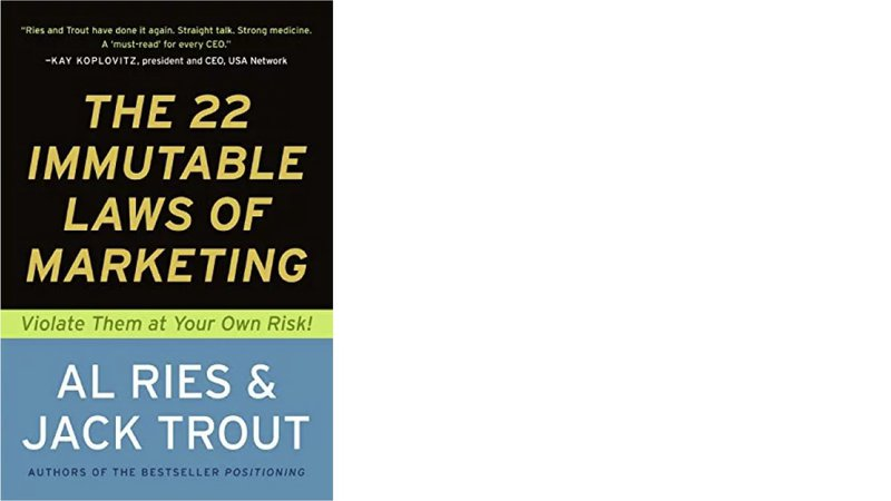 the 22 immutable laws of marketing book cover top marketing books
