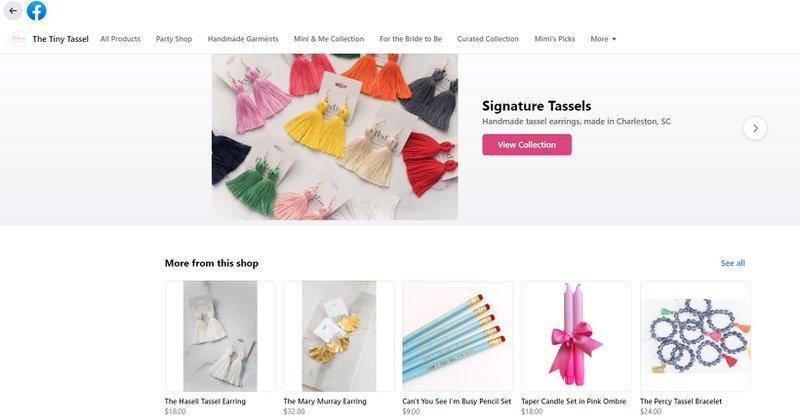 buy signature tassles on facebook
