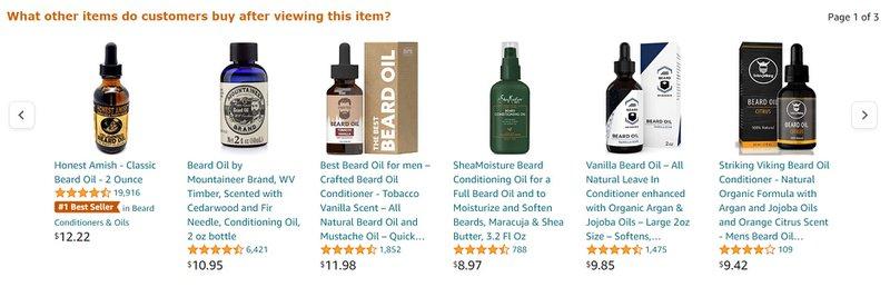buy beard brand oil screenshot amazon