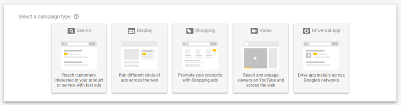 5 differerent google ad campaigns types