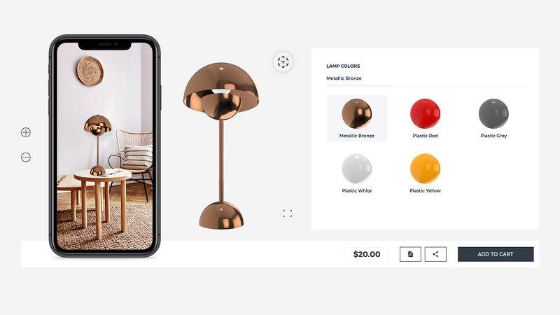 AR home decor ecommerce shopify app