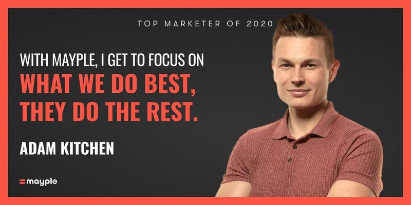Adam Kitchen mayple top marketer 2020