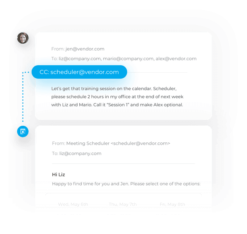 amy scheduling chatbot by x.ai chatbot example
