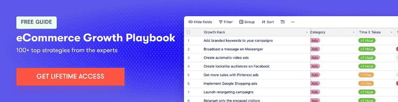 ecommerce marketing playbook chatbot growth tactics