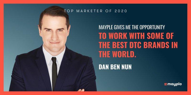 Dan Ben Nun mayple top marketer 2020