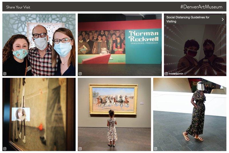 denver art museum instagram UGC campaign for COVID