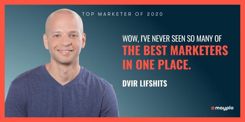 dvir lifshits mayple top marketer 2020