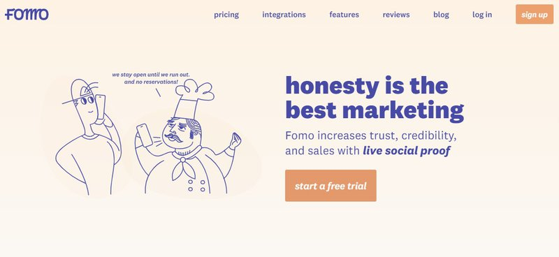 Fomo social proof tool ecommerce
