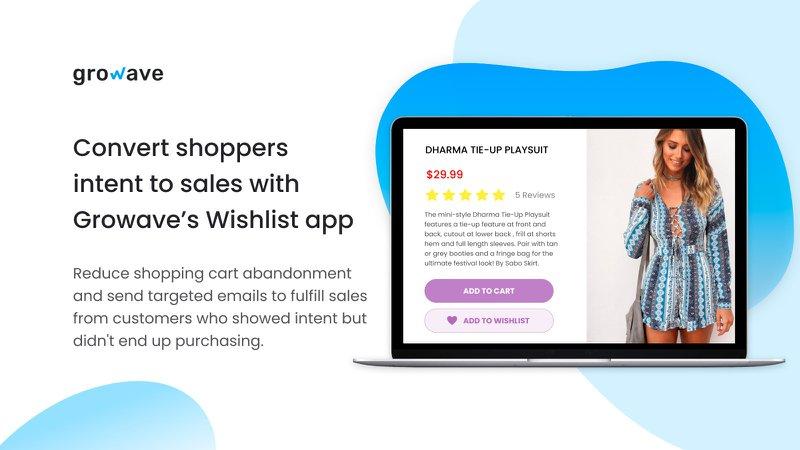 Growave wishlist app for ecommerce