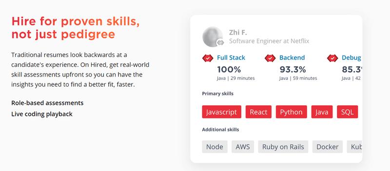 Hired platform for engineers deep job platform service marketplace