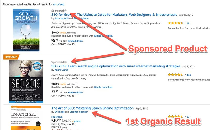 how to identify a sponsored ad product on amazon marketing