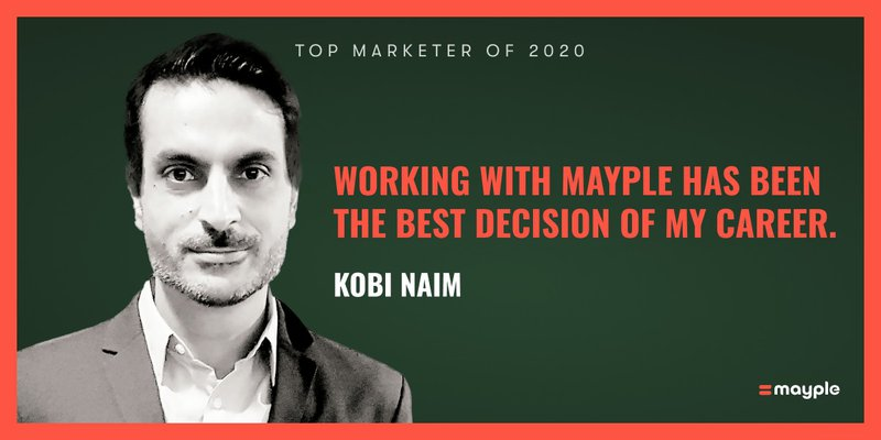 kobi naim mayple top marketer 2020