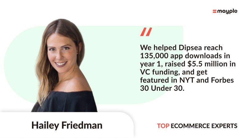 mayple expert hailey friedman banner headshot profile pic