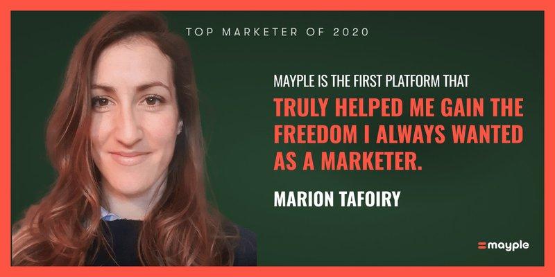 marion tafoiry mayple top marketer 2020