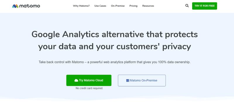 Matomo data analytics tool