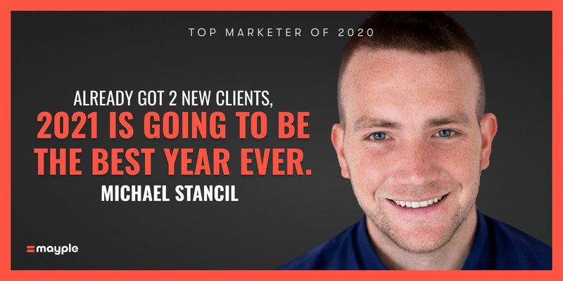 michael stancil mayple top marketer 2020