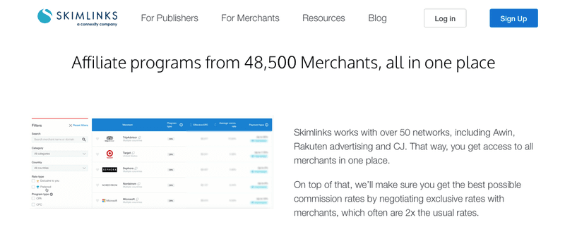 skimlinks affiliate program ecommerce aggregator