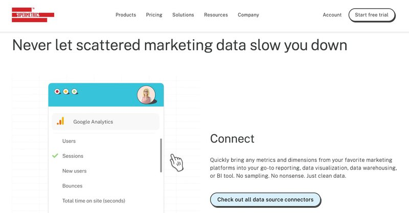 supermetrics data aggregation platform for ecommerce automation