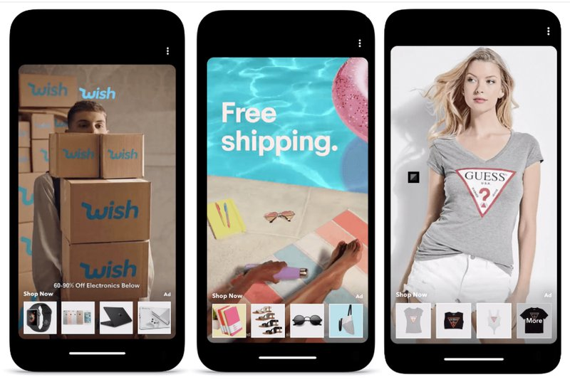 snapchat ecommerce ad examples