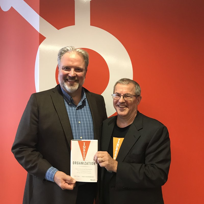 The Inbound Organization book cover with dan tyre