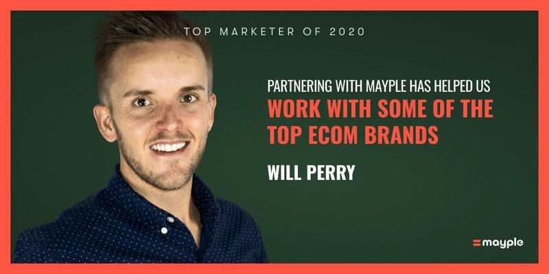 Will Perry mayple top marketer 2020