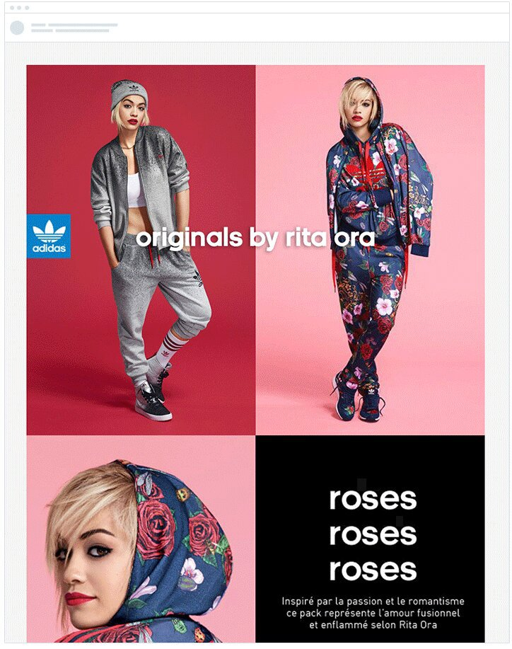adidas dynamic content email marketing for ecommerce