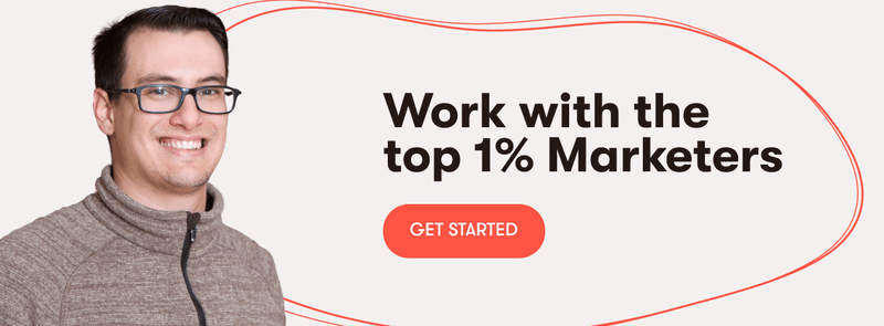 work with the top 1% marketers on mayple's platform
