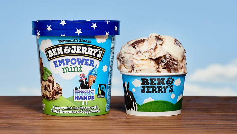 ben and jerry's vermont political flavor of ice cream