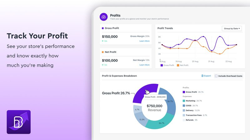 beprofit profit tracker shopify app ecommerce