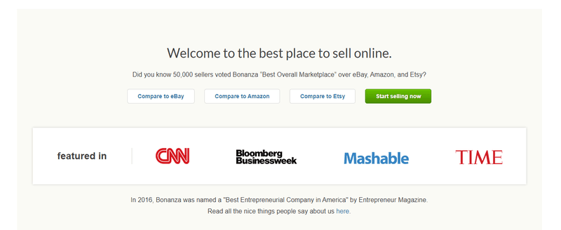 bonanza best place to sell on marketplace
